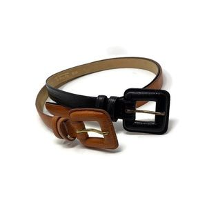 Talbots Lizard Grain Leather Belts 2 For I Price M